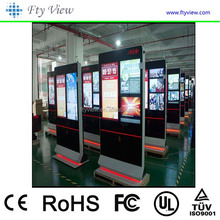 "Touch Screen Floor Standing Display 65"" inch Double Sides LCD Advertising Player"