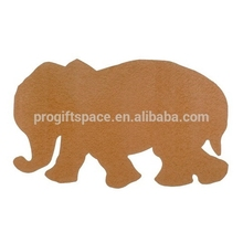 2018 new hot China product custom animal fabric home decor wall ornament wholesale felt craft elephant shapes in Russian alibaba
