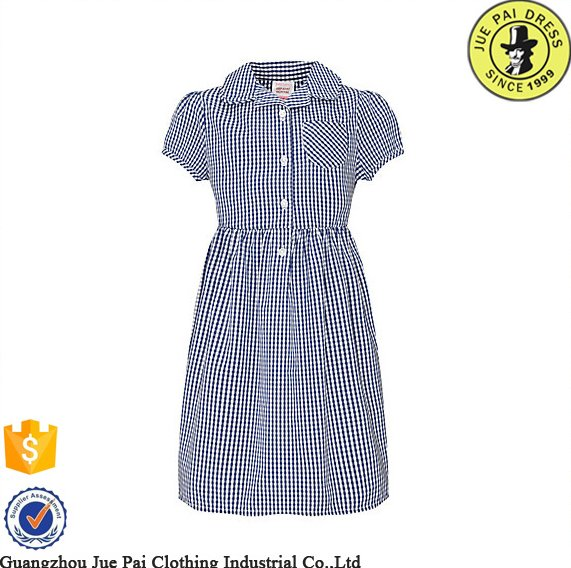 Girls checked dress for school uniforms