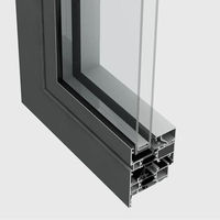 Top quality powder coating aluminum profile windows and doors