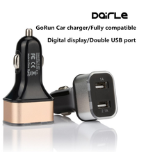 Free sample dual usb car charger with 12v socket for iphone 7