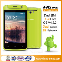 New Arrival Model ! MG1 Unique Apperance Android 4.2 4 inch cheapest dual core 3g mobile phone