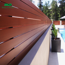 Horizontal modern aluminium slats fences for house