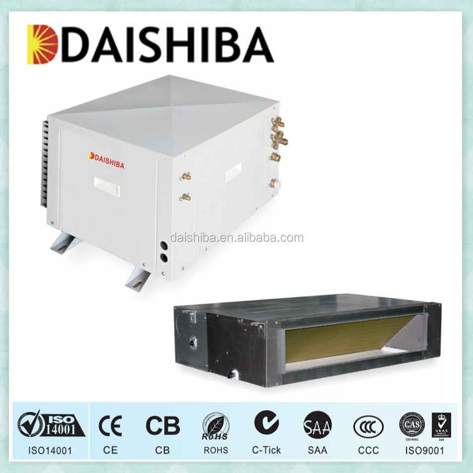 Usable all-weather dc inverter mini split water source heat pump cooling and heating system ducted air conditioner