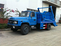 Dongfeng Diesel 140hp 6cubic meter swing arm container garbage truck