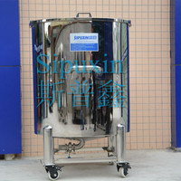spx hot sale stainless steel water tank/opening/mobile/three legs from China supplier