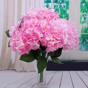 China clean silk flowers china clean silk flowers manufacturers and 6heads real touch silk hydreangea wholesale artificial hydrangea flowers mightylinksfo