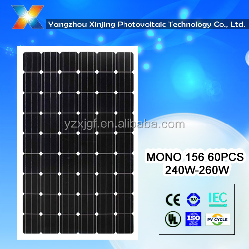 high efficiency solar power system for homes mono solar modules 250watt