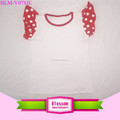 Red With White Dots Toddler Girls Tank Top Cotton Clothes Summer Baby Flutter Tank Top