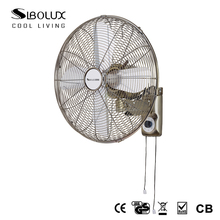 2018 New Design oscillating Vintage 12 inch wall mounted Metal Wall Fan