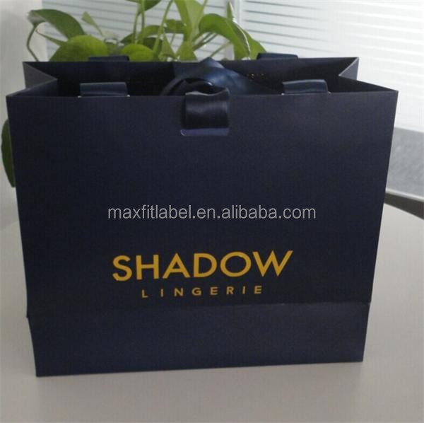 china factory cheap gift unique lauxury paper shopping bags with your own logo