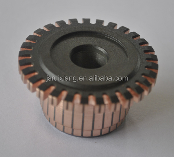 auto commutator groove type crown slot type step type commutation used on DC motor starter