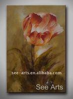 Handmade Abstract Oil Painting Of Flower Art
