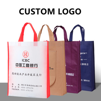 Custom logo printing eco recycle nonwoven TNT bag