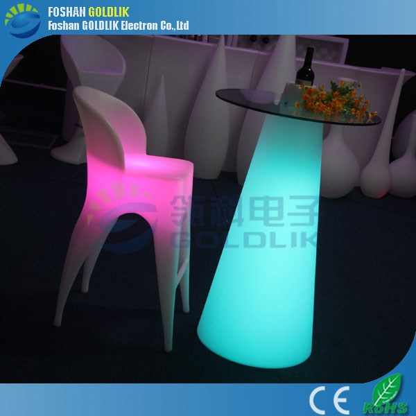 GLACS Control Round Bar Table and Stools for Commercial