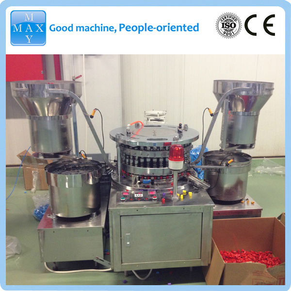 Rubber stopper and plastic cap Lamination machine for blood collection tube