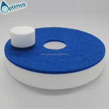 small dot high density round floor cleaning polishing sponge for machine