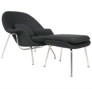 Womb Style Chair & Ottoman - $799