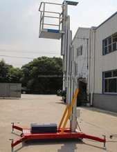 Single mast human lift aluminum hydraulic personal lifts
