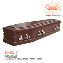 TD-EC12 Traditional solid wooden Funeral Casket Supplies Wholesale
