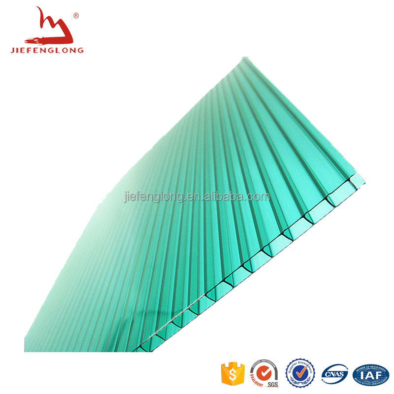 Clear 25mm Thick Five Multi Wall Polycarbonate Sheets X-structure UV Coating Heat Hail Proof 15