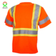 High visibility short sleeve orange reflective Working safety shirt