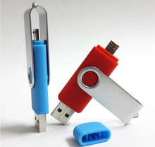 Bulk cheap 4GB 8GB 16GB dual otg usb flash drive for mobile phone with logo
