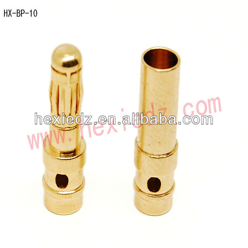 4.0 gold plated connector male and female