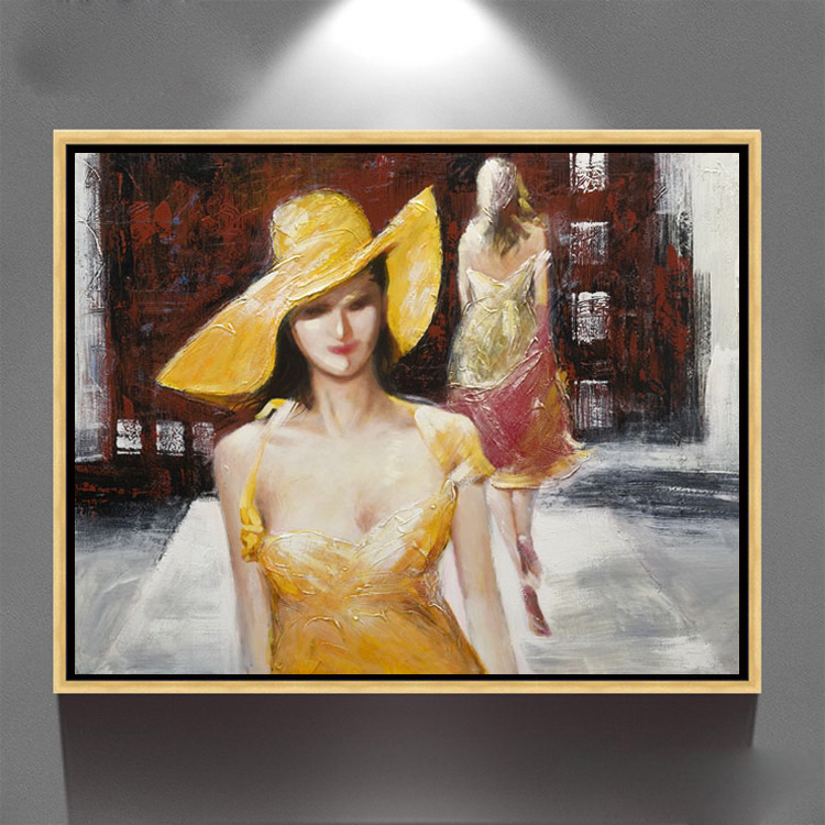 hot selling sexy nude girls picture canvas framed oil paintings
