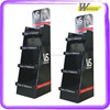 Eco-friendly Material Elegant Design supermarket 4 tiers bottle drink car display stand for sweater