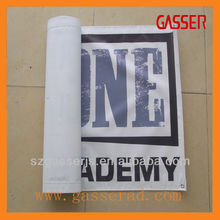 outdoor advertising with logo print
