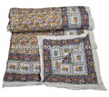 Animal Printed Cotton Blankets Wholesale Handmade Cotton Indian Quilt