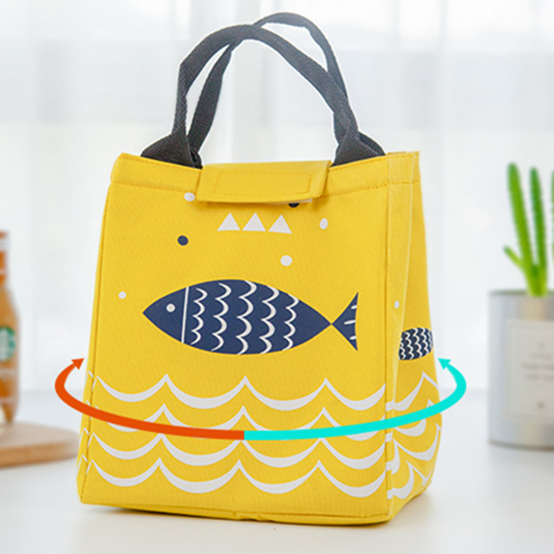 2019 new fashion hand carry picnic cooler bag keep food fres thermos large bag thermal food cooler bag ice pack lunch bags