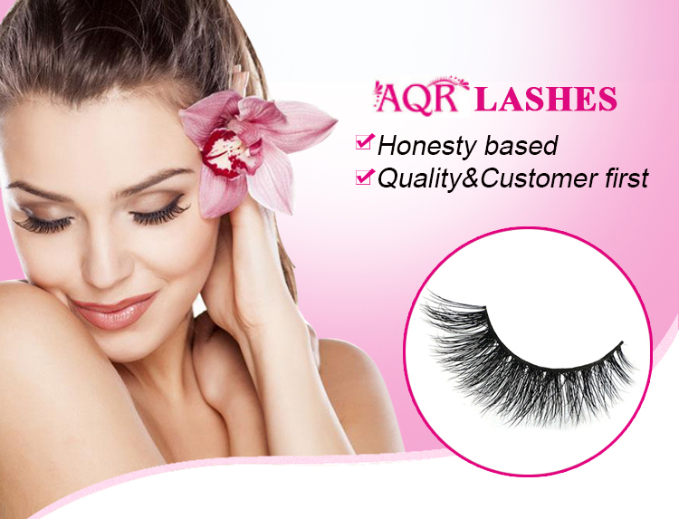 100% Handmade Real Mink Fur False Eyelashes 3D Strip Mink Lashes Thickness Faux Eyelashes