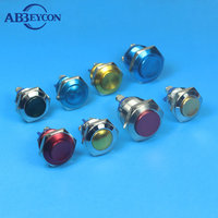 Abbeycon 30mm metal illuminated waterproof Button Switch with TUV ,CE ,12v colorful led of car