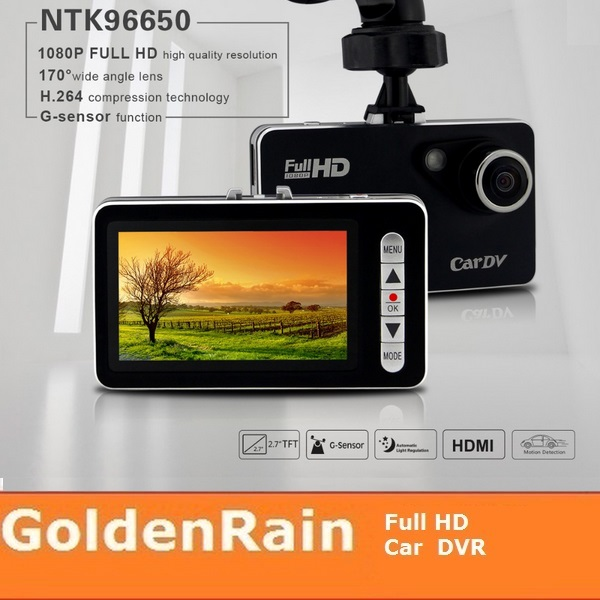 WDR Good Night vision 1080p video registrator for car