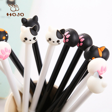 best promotional gift DIY creative stationery kid personalized Novelty gel pen cartoon black cat and white dog tag ballpoint pen