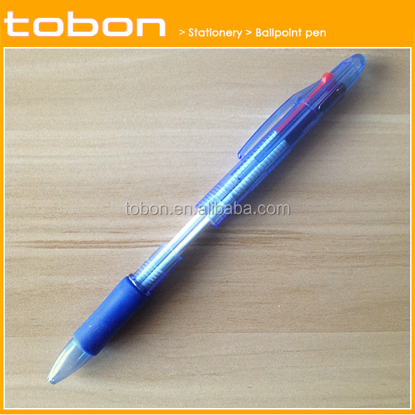 12PCS package 4 colors retractable plastic ballpoint ball pen