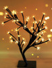 Decorative LED Metal Cherry Blossom Desk Top Bonsai Tree with Timer - Perfect for Holiday, Home, Party