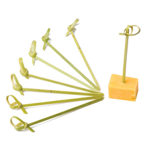 Hot selling bamboo skewers 12cm bamboo appetizer party picks