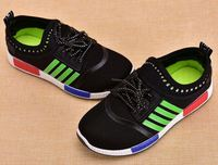 Wholesale import Boys Girls Kids Childrens School Lace Up Flat Sports Trainers Shoes