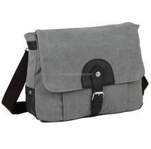 Wholesale men vintage leather canvas messenger shoulder bag