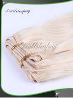 Indian remy blonde color hair weaves