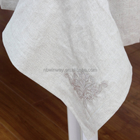 Exquisite high-grade embroidered linen table cloth / pure natural linen table cloth / 100% linen embroidery table cloth
