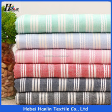 High quality stripe poly cotton printed woven t-shirt fabric india
