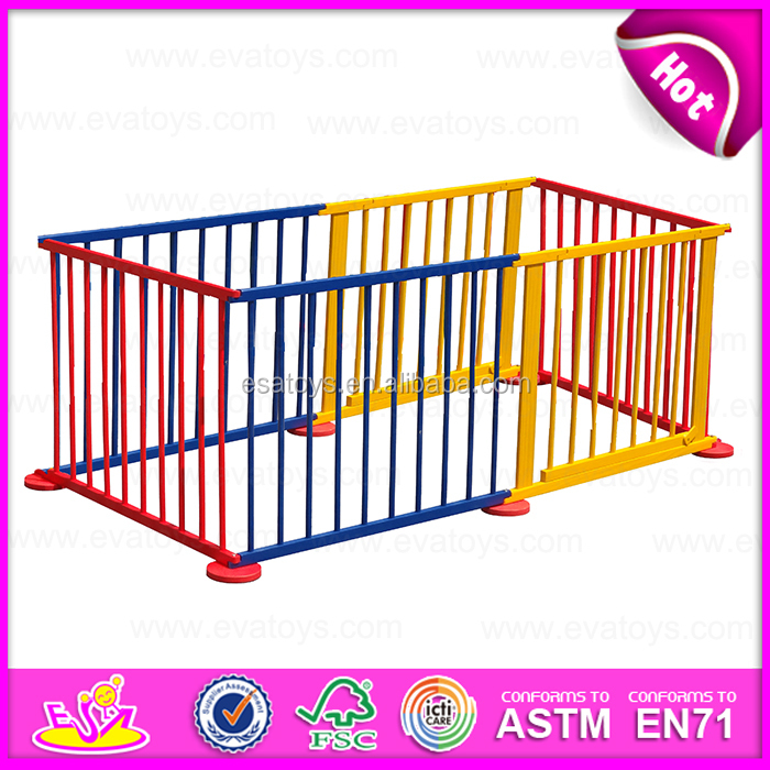 2015 Safety Care Wooden folding baby playpen,Luxury baby furniture baby playpen,Colorful large playpen/fence for babies W08H010