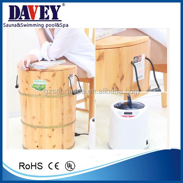 most popular factory sale wooden foot steam bath