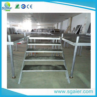Folding Mobile Stage Ladder, Portable Stage Stair,stage steps
