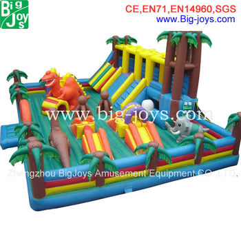 super quality giant inflatable castle playground paradise, fun jump inflatable