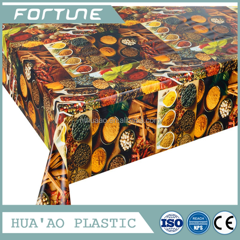 Cherry/grapes/apple/pear printed designs of China tablecloth wholesale factory